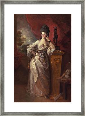 Penelope , Viscountess Ligonier, 1770 Framed Print by Thomas Gainsborough