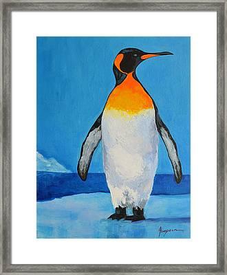 Penguin King Carl Framed Print by Patricia Awapara