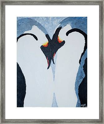 Penguin Love Framed Print