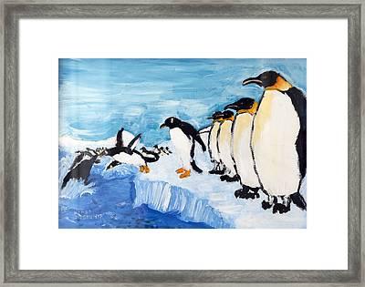 Penguins Framed Print by Ethan Altshuler