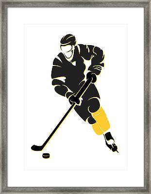 Penguins Shadow Player Framed Print