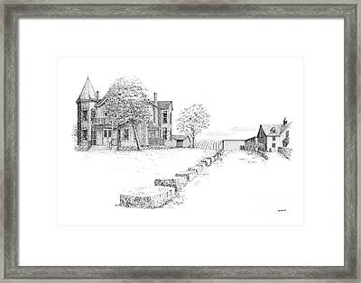 Peninsula Ridge Winery Framed Print by Steve Knapp