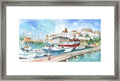 Peniscola Harbour 01 Framed Print by Miki De Goodaboom