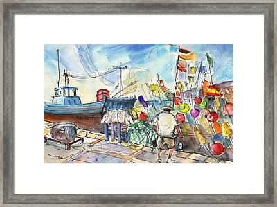 Peniscola Harbour 02 Framed Print by Miki De Goodaboom
