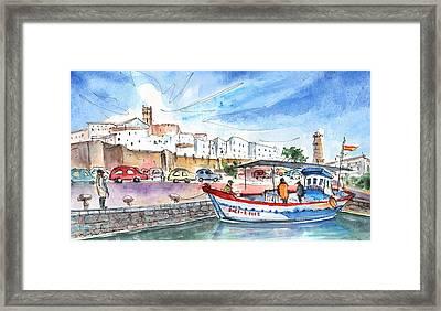 Peniscola Harbour 03 Framed Print by Miki De Goodaboom