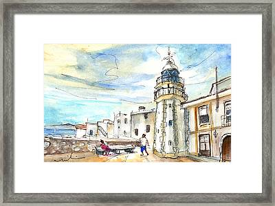 Peniscola Light Tower 01 Framed Print by Miki De Goodaboom