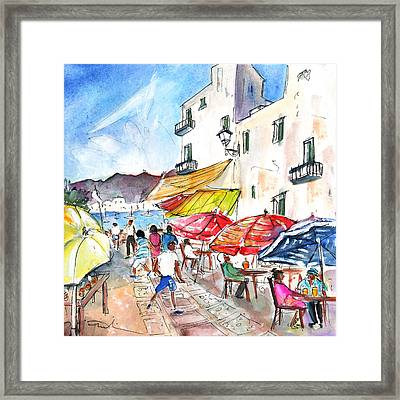 Peniscola Old Town 01 Framed Print by Miki De Goodaboom