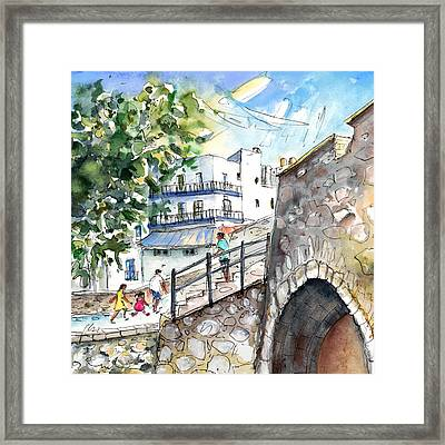 Peniscola Old Town 03 Framed Print by Miki De Goodaboom
