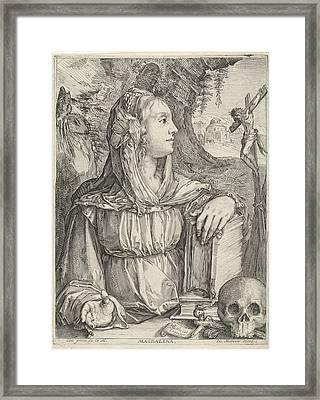 Penitent Mary Magdalene, Jacob Matham Framed Print by Jacob Matham