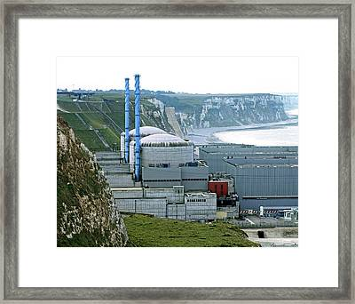Penly Nuclear Power Station Framed Print by Martin Bond