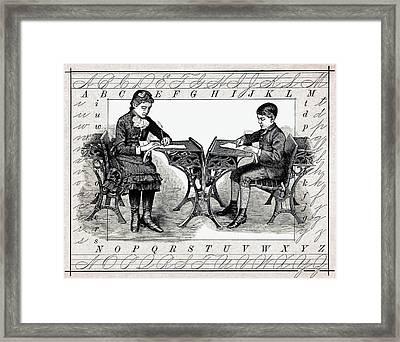 Penmanship Framed Print