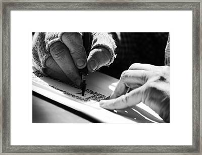 Penmanship  Framed Print by Off The Beaten Path Photography - Andrew Alexander