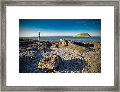 Penmon Lighthouse And Puffin Island Framed Print