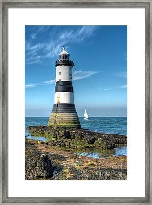 Penmon Point Sailing Framed Print