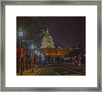 Penn Ave Framed Print