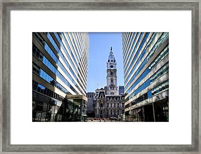 Penn Center And City Hall Philadelphia Framed Print by Bill Cannon
