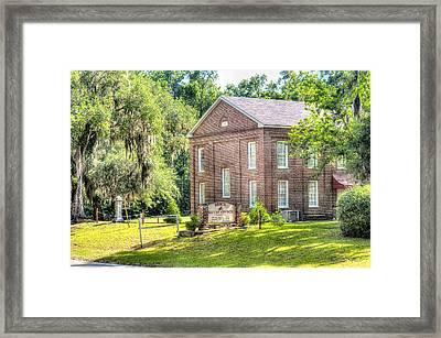 Penn Center - Brick Baptist Church Framed Print by Scott Hansen