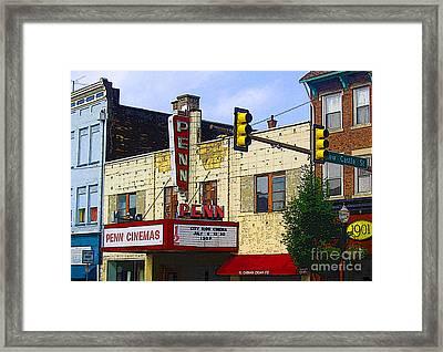 Penn Cinemas In Ohiopyle Framed Print by Nina Silver