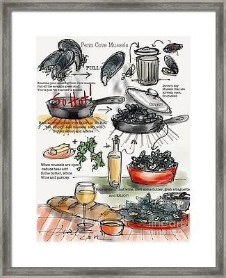 Penn Cove Mussels Framed Print by Lisa Owen-Lynch