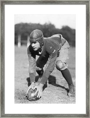 Penn Sate Football Captain Framed Print by Underwood Archives