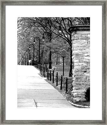 Penn State Campus  Framed Print by Mary Beth Landis