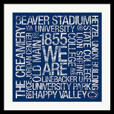 University Logo Framed Prints