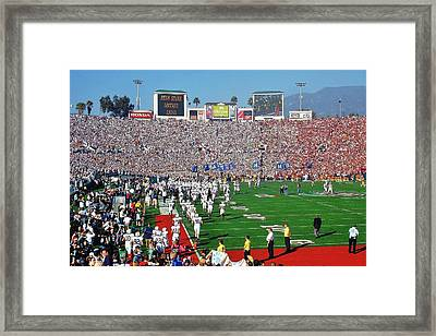 Penn State Rose Bowl Framed Print by Benjamin Yeager