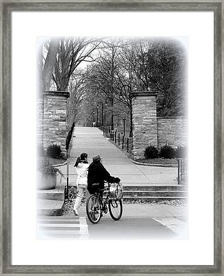 Penn State University Transportation Framed Print by Mary Beth Landis