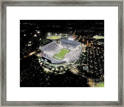 Penn State Whiteout Framed Print by Amesphotos