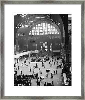 Penn Station Nyc 1957 Framed Print by Van D Bucher