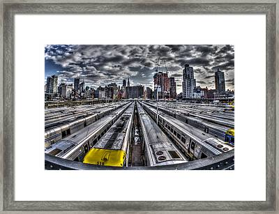 Penn Station Train Yard Framed Print