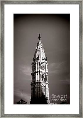 Penn Watching Framed Print by Olivier Le Queinec