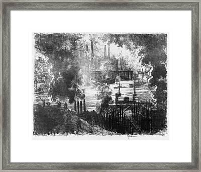 Pennell Munitions River, 1916 Framed Print by Granger