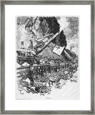 Pennell Steam Shovel, 1912 Framed Print by Granger