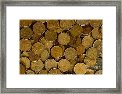 Pennies Framed Print