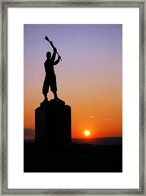 Framed Print featuring the photograph Pennsylvania 72nd Memorial by James Kirkikis