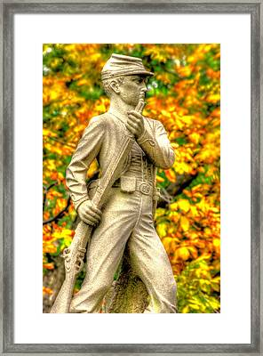Pennsylvania At Gettysburg - 23rd Pa Volunteer Infantry Birneys Zouaves - Close A Framed Print by Michael Mazaika