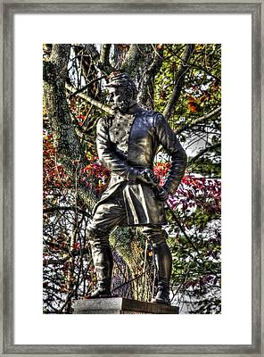 Pennsylvania At Gettysburg - Col Strong Vincent 83rd Pa Volunteer Infantry Close-3 Little Round Top Framed Print by Michael Mazaika