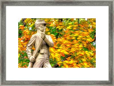 Pennsylvania At Gettysburg - The Rush To Battle 23rd Pa Volunteer Infantry Birneys Zouaves - Close B Framed Print