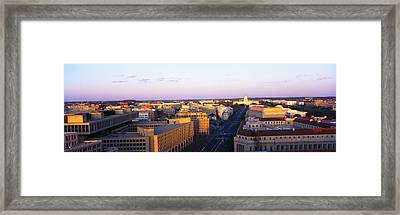 Pennsylvania Ave Washington Dc Framed Print by Panoramic Images