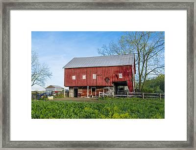 Pennsylvania Barnyard Framed Print by Bill Cannon