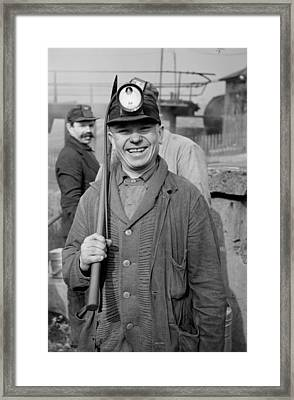 Pennsylvania Coal Miner In 1939 Framed Print by Mountain Dreams