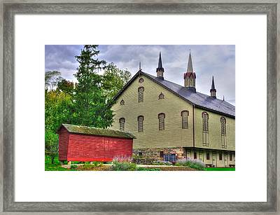 Pennsylvania Country Roads - The Centennial Barn - Fort Hunter Park - Dauphin County Framed Print by Michael Mazaika