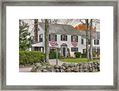 Pennsylvania Country Roads - The Doubleday Inn Bed And Breakfast - Harvest Time Gettysburg Framed Print by Michael Mazaika