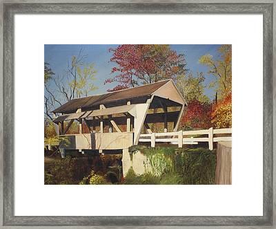 Pennsylvania Covered Bridge Framed Print