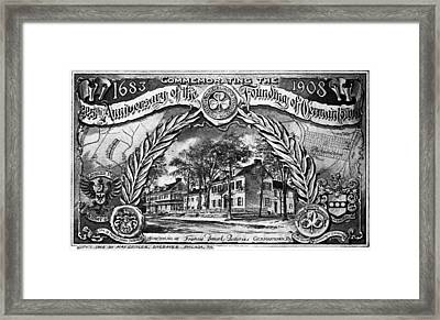 Pennsylvania Germantown Framed Print by Granger