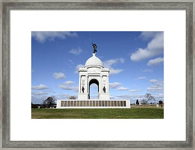 Pennsylvania Memorial At Gettysburg Battlefield Framed Print