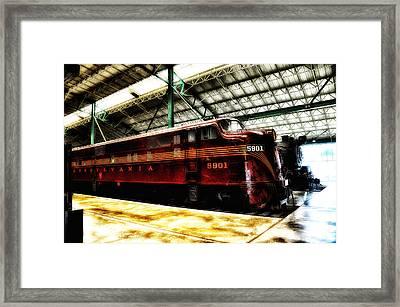 Pennsylvania Railroad Engine 5901 Framed Print by Bill Cannon