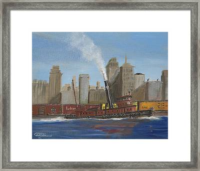 Pennsylvania Railroad Tug Framed Print by Christopher Jenkins