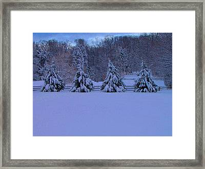 Pennsylvania Snowy Wonderland Framed Print